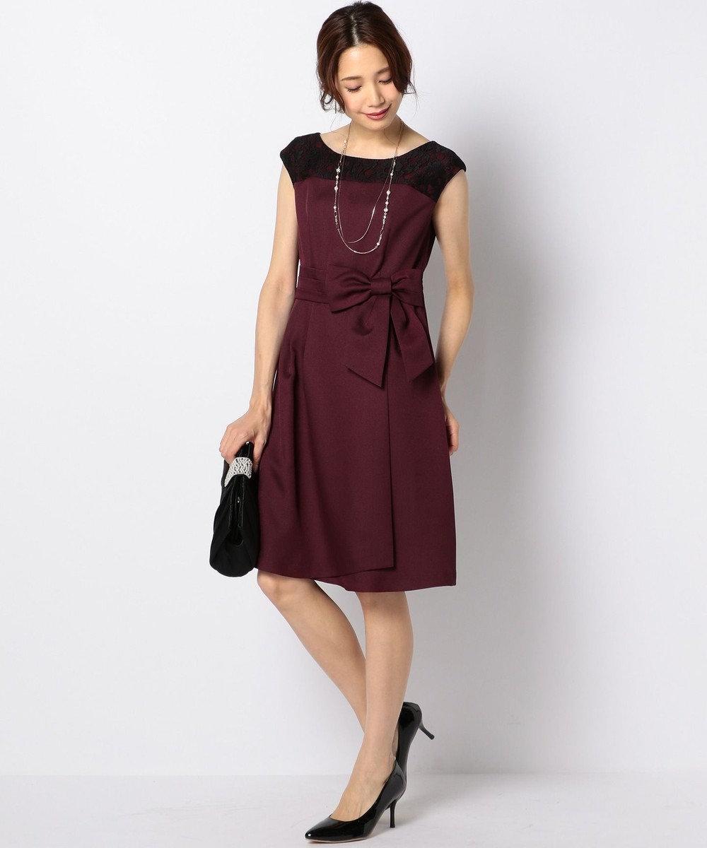 any SiS レースコンビ ドレス ワイン系