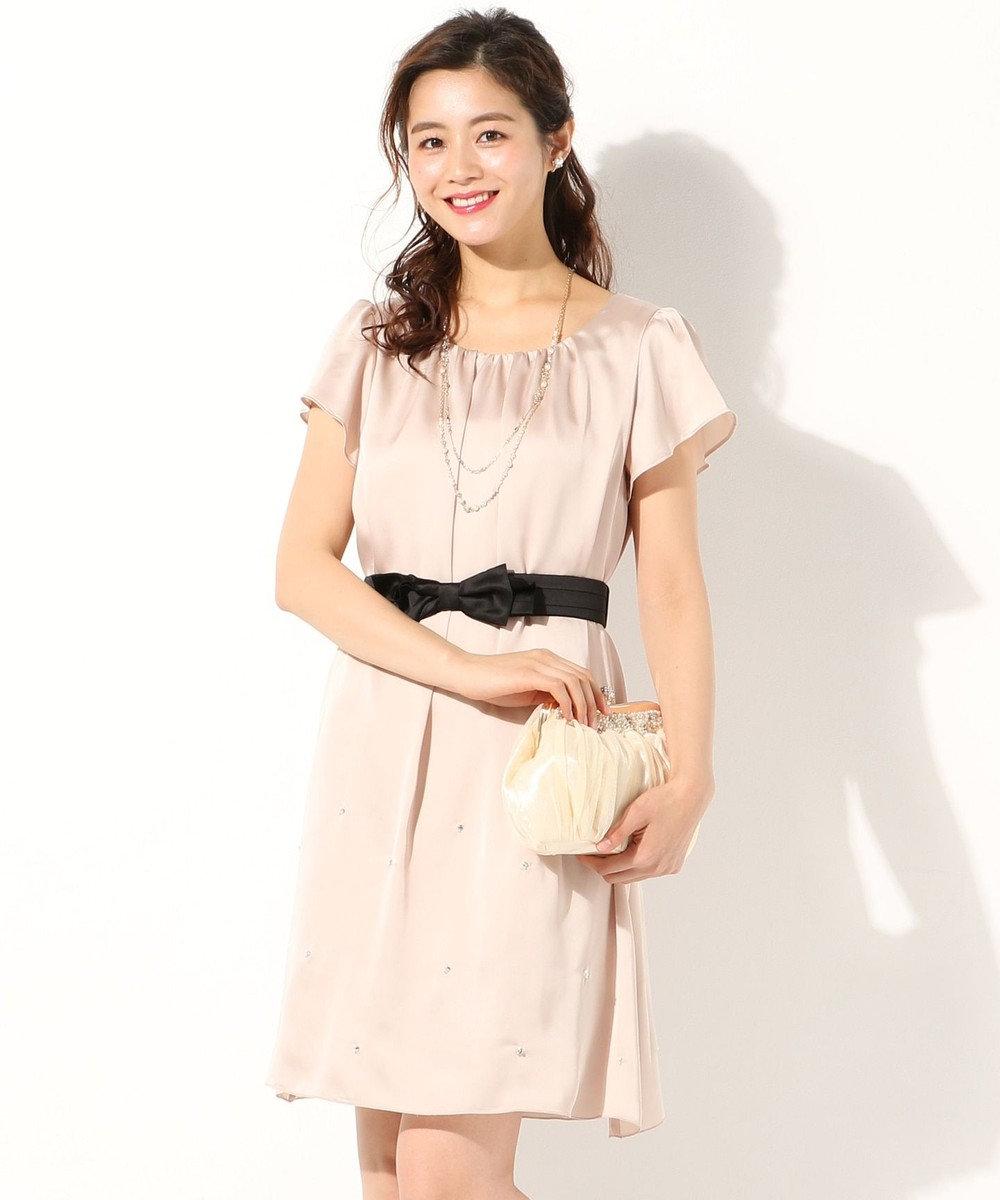 any SiS 【リボンベルト付】2WAYジュエル ドレス ベージュ系