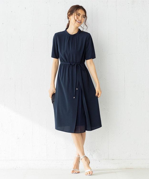組曲 【WEB限定】サイドプリーツ ワンピース