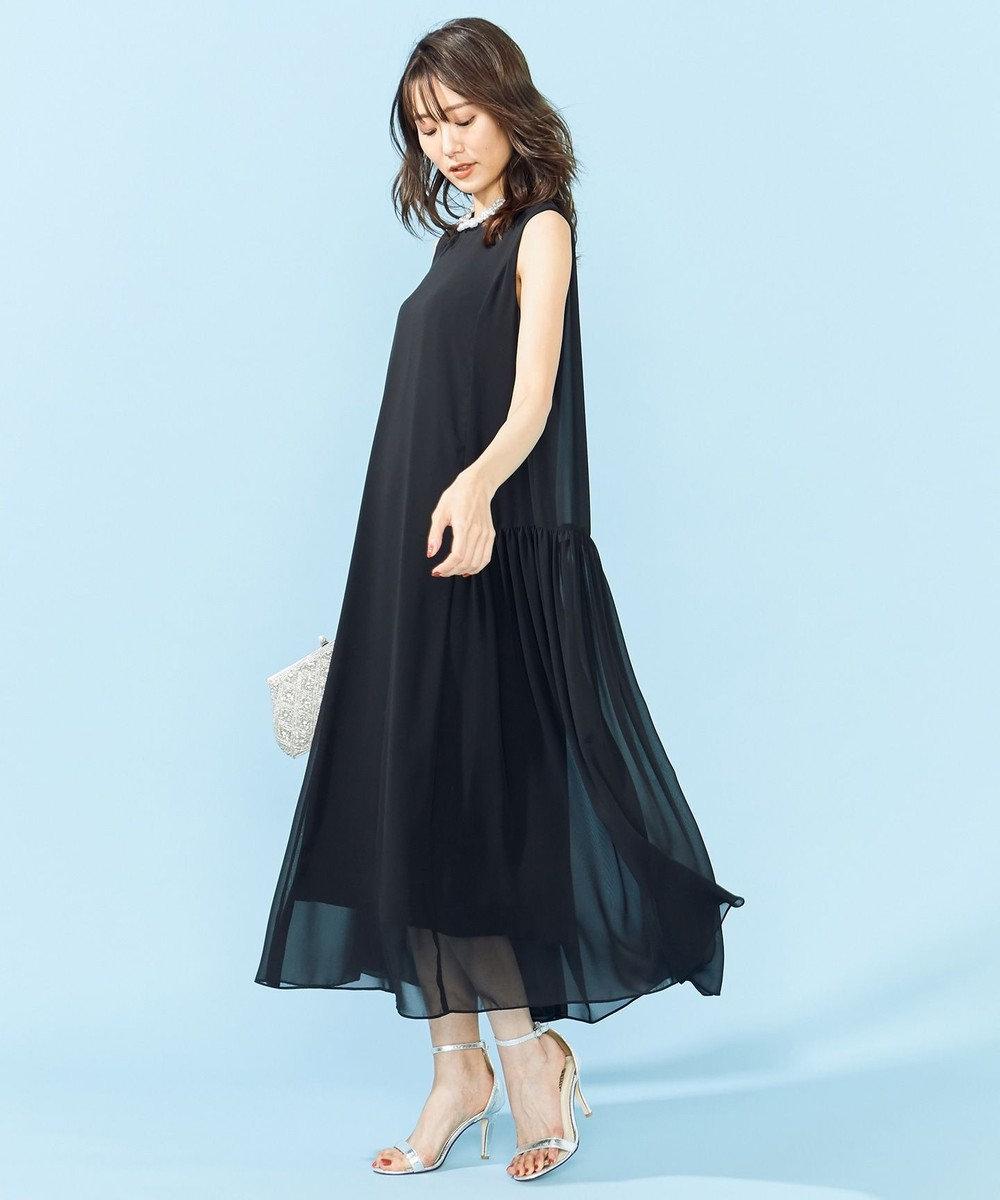 組曲 L 【PRIER】ノースリーブAラインドレス ブラック系