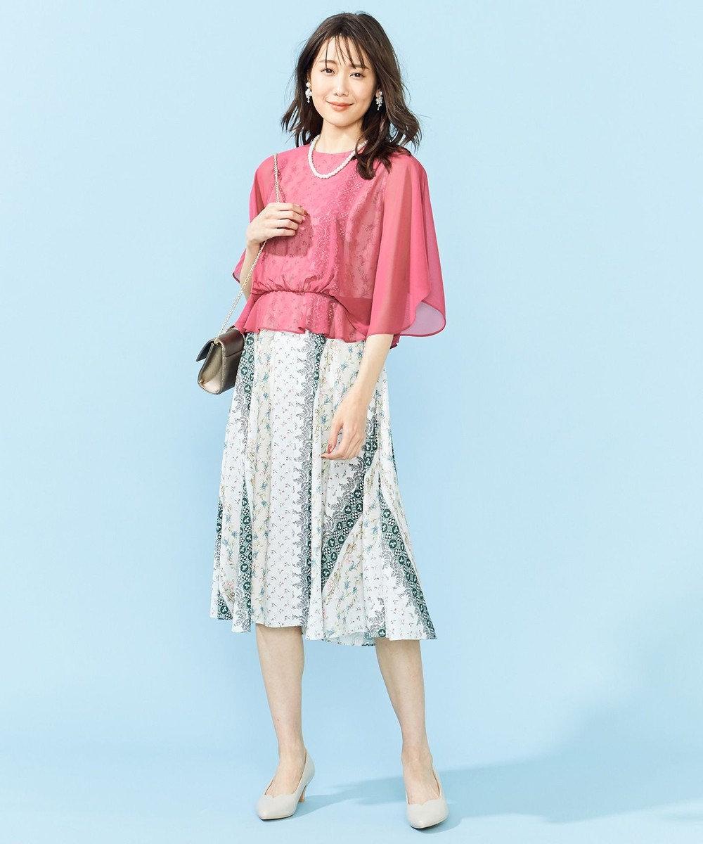 組曲 【PRIER×JUN OKAMOTOコラボ】2WAY キモノスリーブフレアワンピース ピンク系5