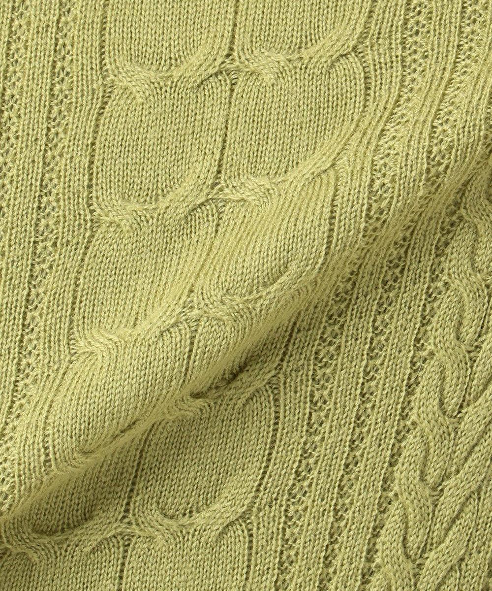 組曲 【Rythme KUMIKYOKU】Rib Knit フレア ニットワンピース グリーン系