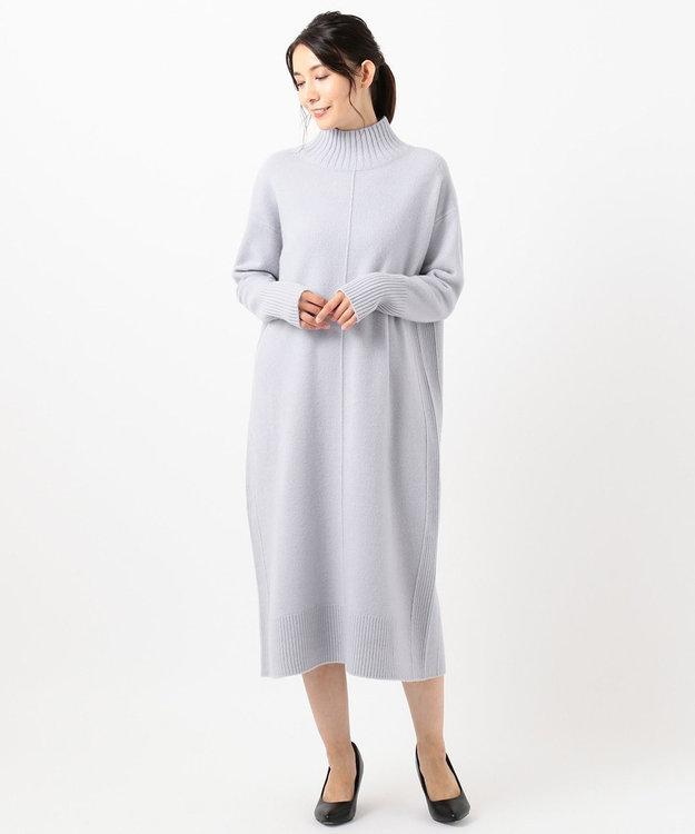 組曲 【Oggi.jp掲載】ウールカシミヤ ハイネック ニットワンピース