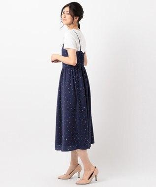 組曲 【洗える】Almaプリント キャミワンピース ネイビー系5