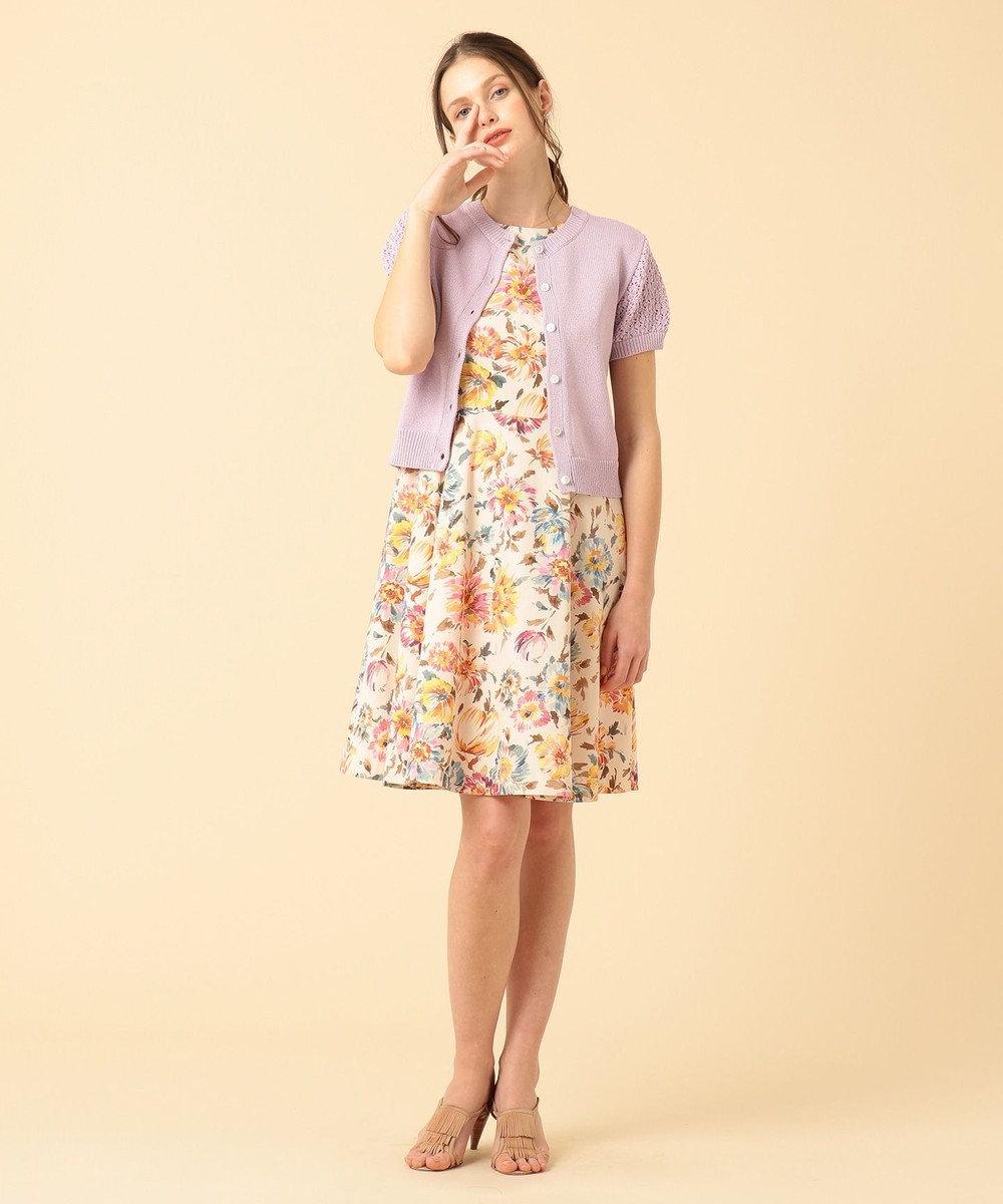 組曲 【Rythme KUMIKYOKU】pivoine プリント ワンピース ピンク系5