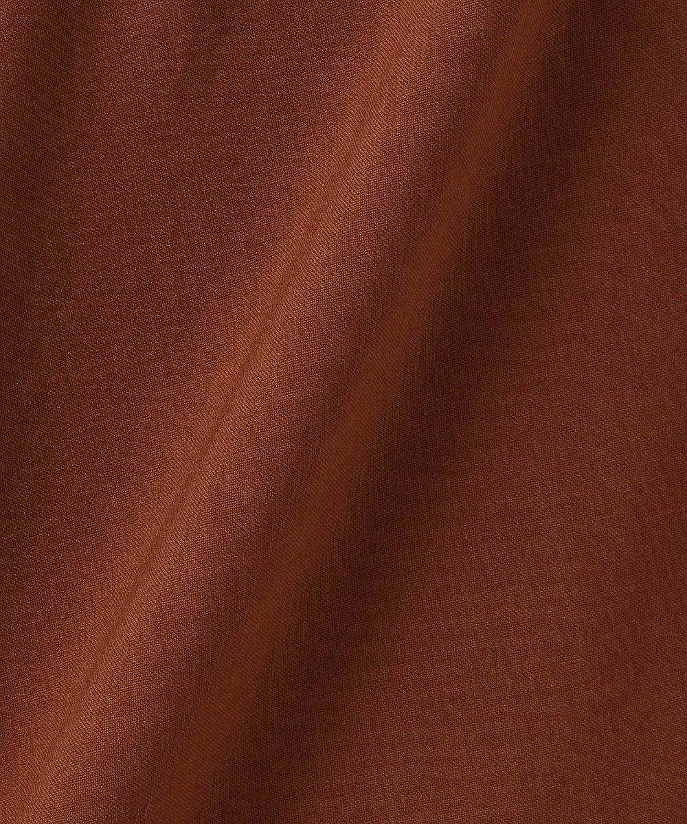 組曲 L 【洗える・シワになりにくい】リネンライクカラードレス ブラウン系