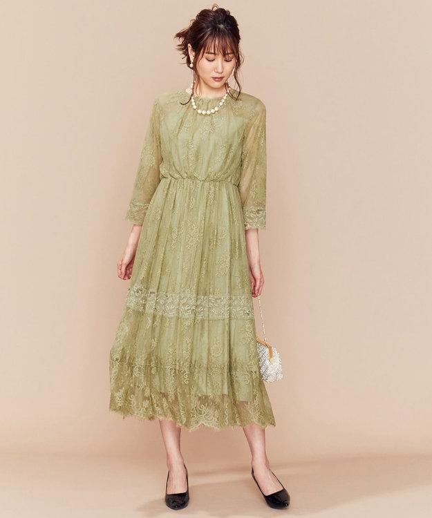 組曲 【新色追加!】総レースロング ドレス