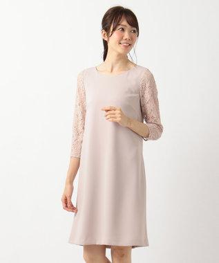 組曲 【VERY3月号掲載】ダブルクロスサテン ワンピース ピンク系