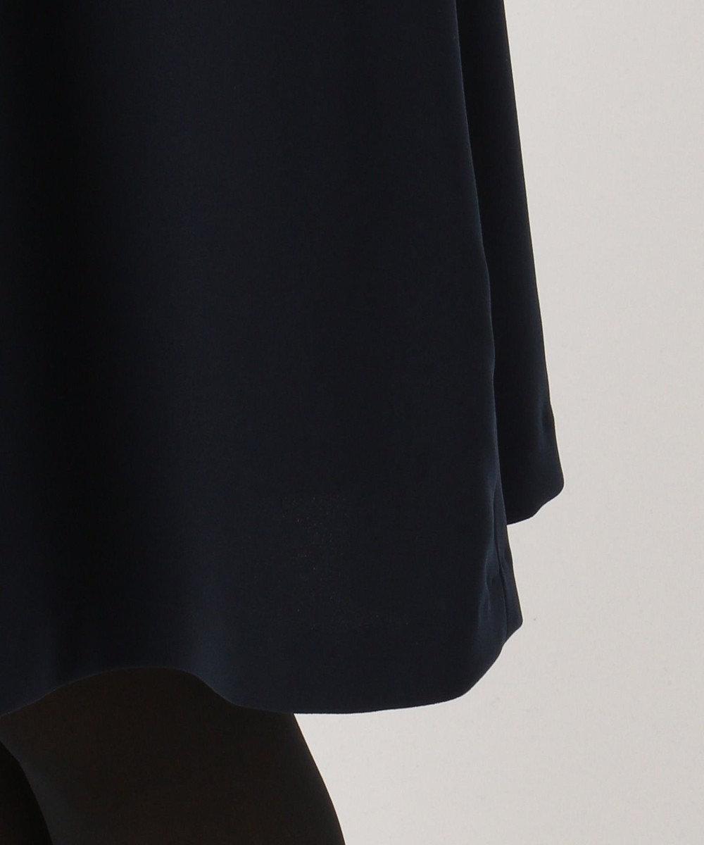 組曲 【洗える】ダブルジョーゼット ワンピース ネイビー系