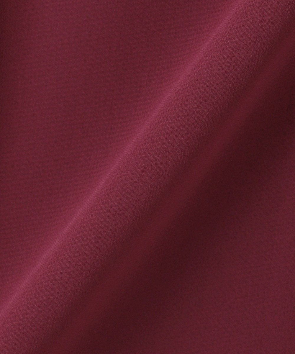 組曲 S 【PRIER】BIGリボンギャザーロングワンピース ドレス ワイン系