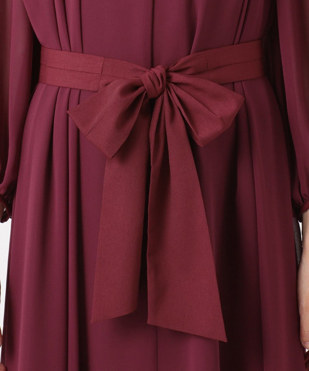 組曲 S 【PRIER】BIGリボンギャザーロングワンピース ドレス