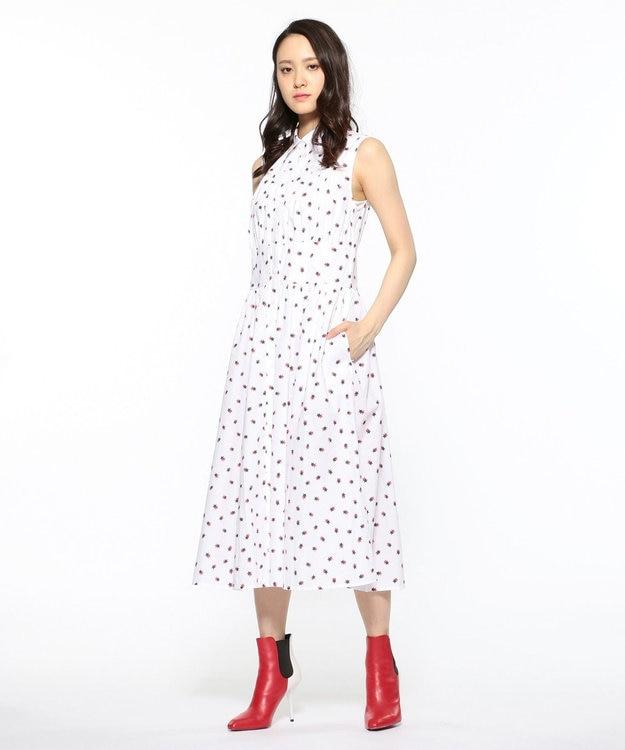 CK CALVIN KLEIN WOMEN 【2019SS インポート企画】スタープリント シャツワンピース