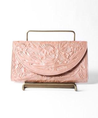 GRACE CONTINENTAL Flap Wallet ピンクゴールド