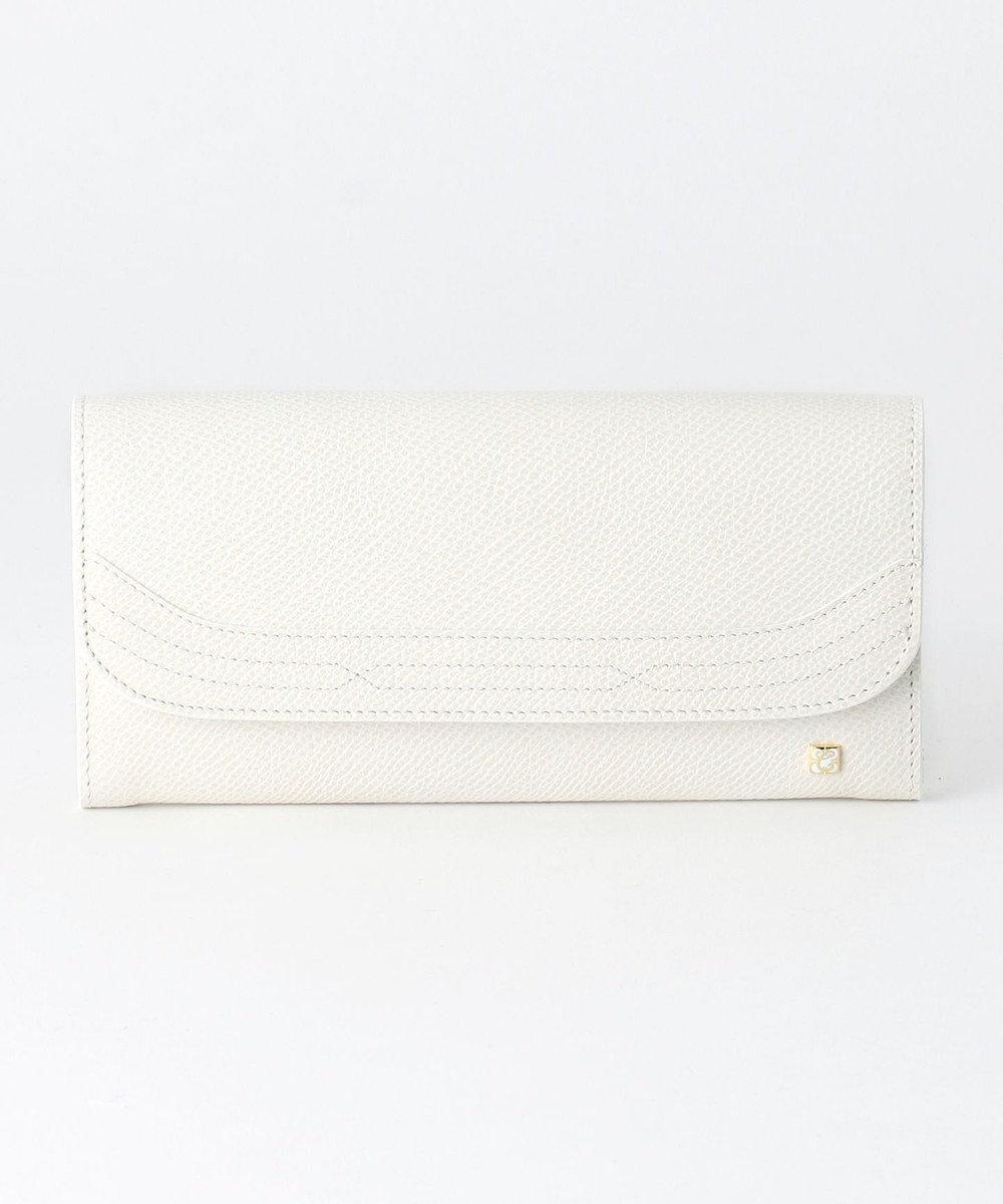 CYPRIS 【カード16枚収納】アレナリア 日本製カブセデザイン長財布 ホワイト[08]