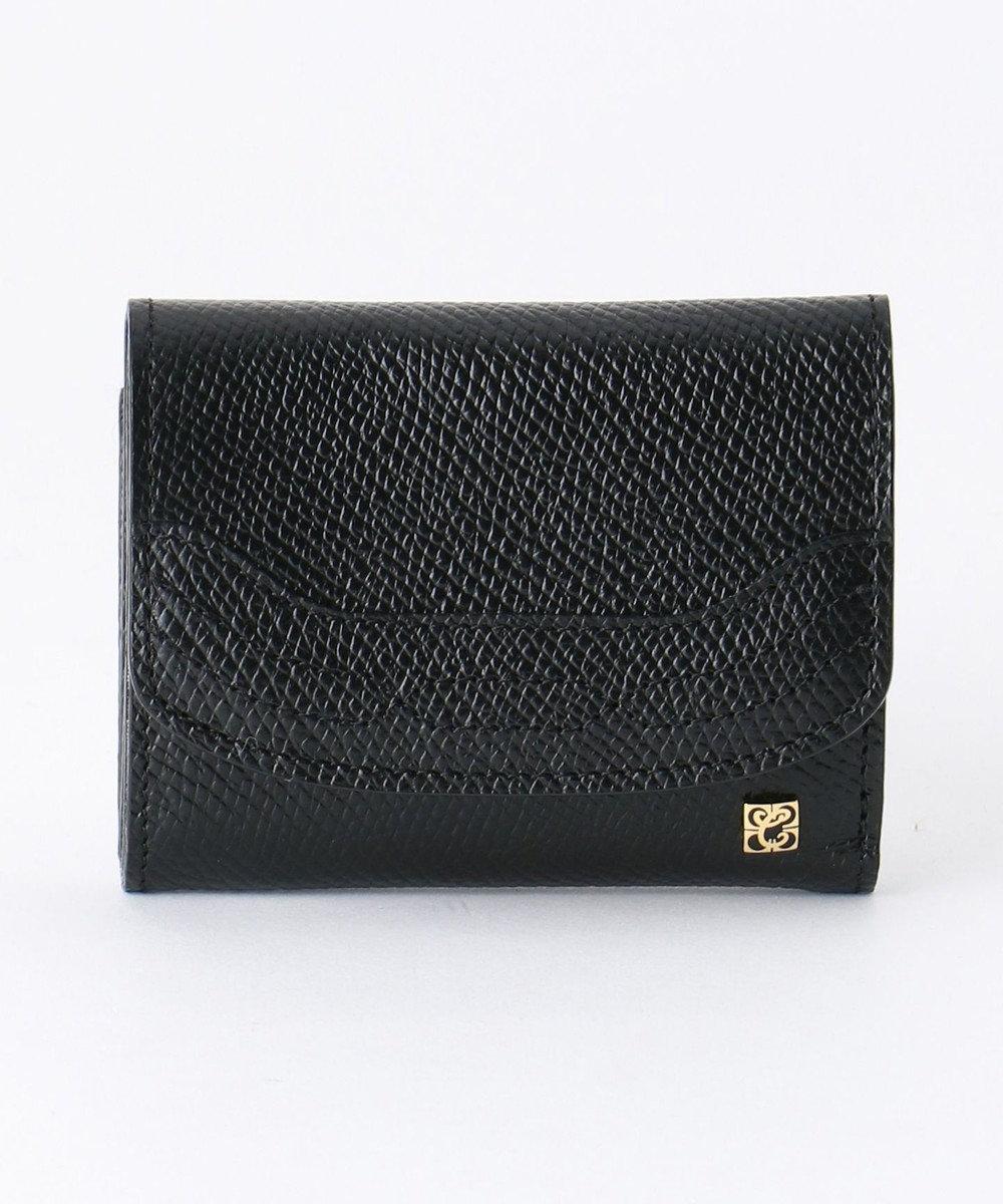 CYPRIS 【カード4枚収納】アレナリア 日本製 三つ折りコンパクト財布 ブラック[01]