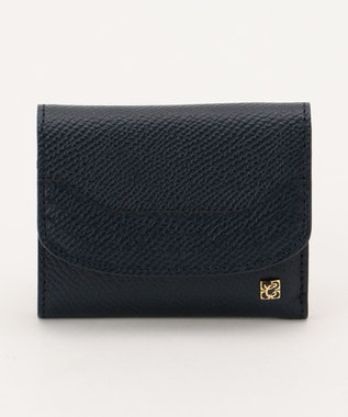 CYPRIS 【カード4枚収納】アレナリア 日本製 三つ折りコンパクト財布 ネイビー[05]
