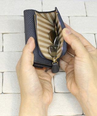 CYPRIS 【カード4枚収納】アレナリア 日本製 三つ折りコンパクト財布 グレー[09]