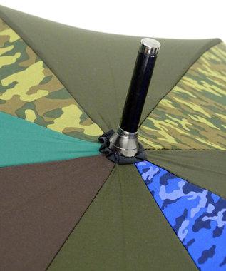 +RING 【数量限定】メンズ向け長傘65cmカモフラージュT270 カーキ