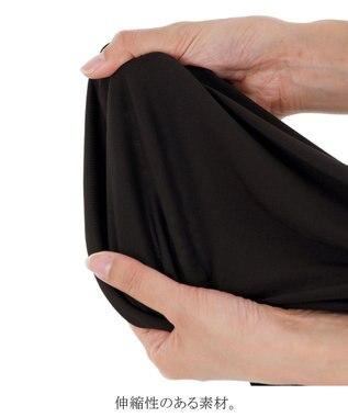 Tiaclasse 【ノースリーブ・洗える】やせて見えるカシュクールジャージーワンピース ブラック