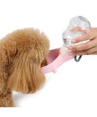PET PARADISE ペティソワン 受け皿付きお水携帯ボトル 携帯水のみボトル ピンク(淡)