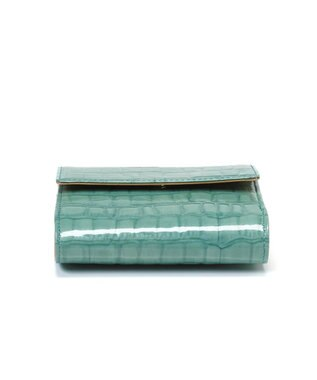 TOPKAPI [トプカピ] TOPKAPI エナメルクロコ型押し・がま口折り財布 ミントグリーン