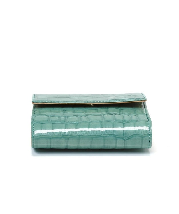 TOPKAPI [トプカピ] TOPKAPI エナメルクロコ型押し・がま口折り財布