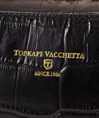 TOPKAPI COCCO[コッコ]イタリアンレザー・クロコ型押しミニショルダーバッグ ブラック