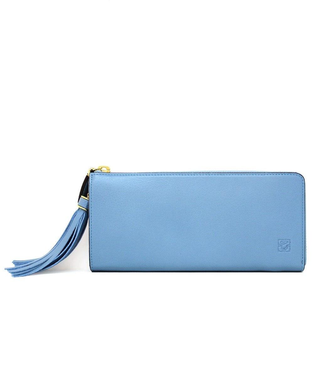 CYPRIS 【カード収納枚数12枚】キアーロ 日本製L字ファスナー長財布 スカイ[05]