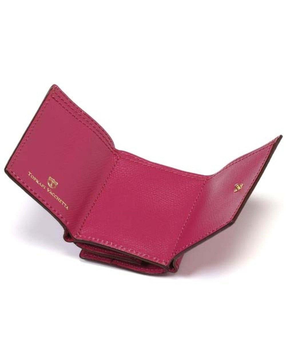 TOPKAPI [トプカピ] TOPKAPI 角シボ型押し・三つ折りミニ財布 COLORATO コロラート ピンク