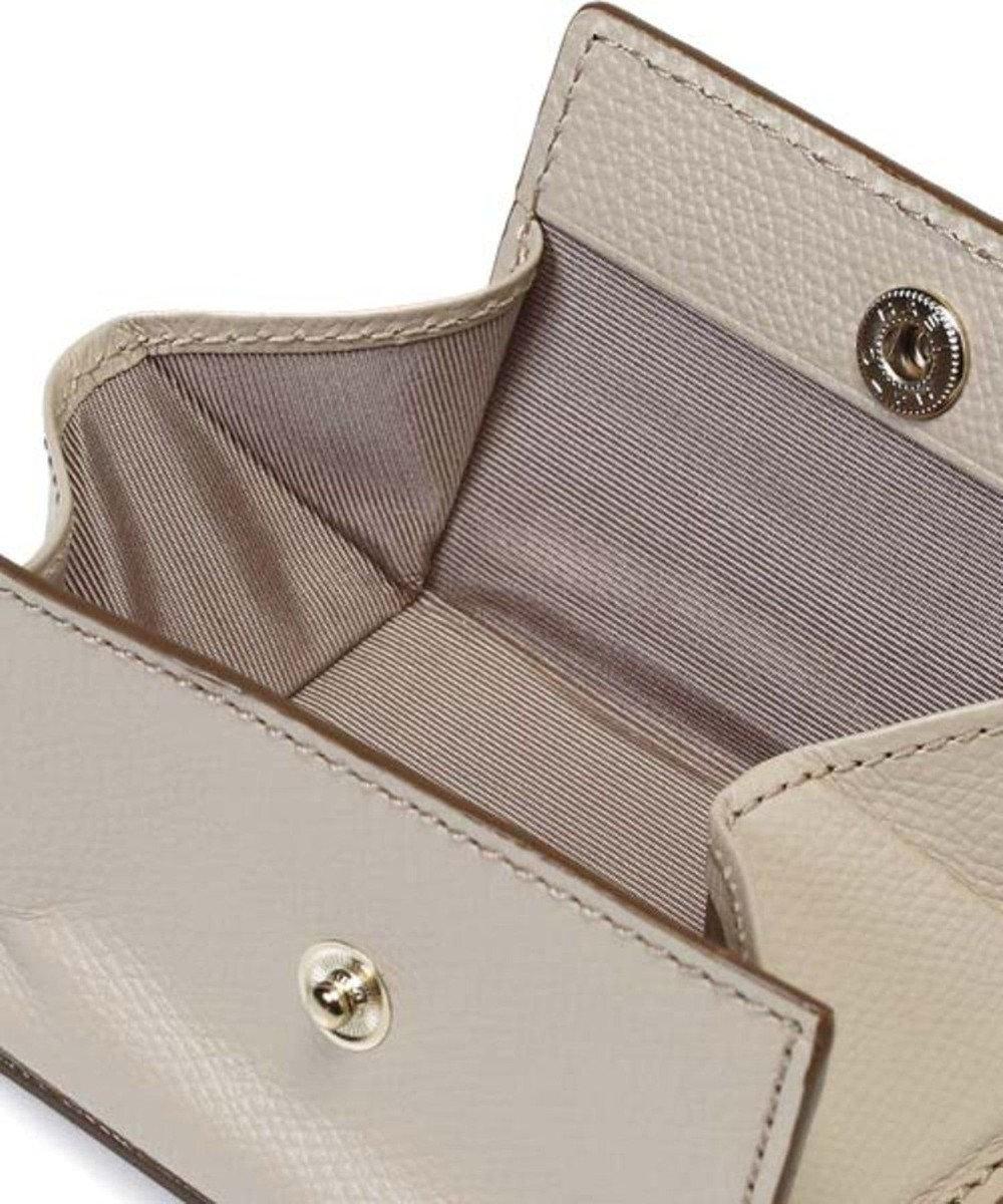 TOPKAPI [トプカピ] TOPKAPI 角シボ型押し・三つ折りミニ財布 COLORATO コロラート グレージュ