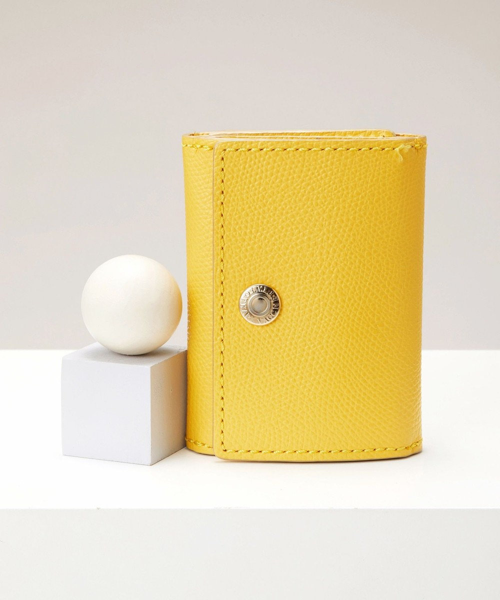 TOPKAPI [トプカピ] TOPKAPI 角シボ型押し・三つ折りミニ財布 COLORATO コロラート レモンイエロー