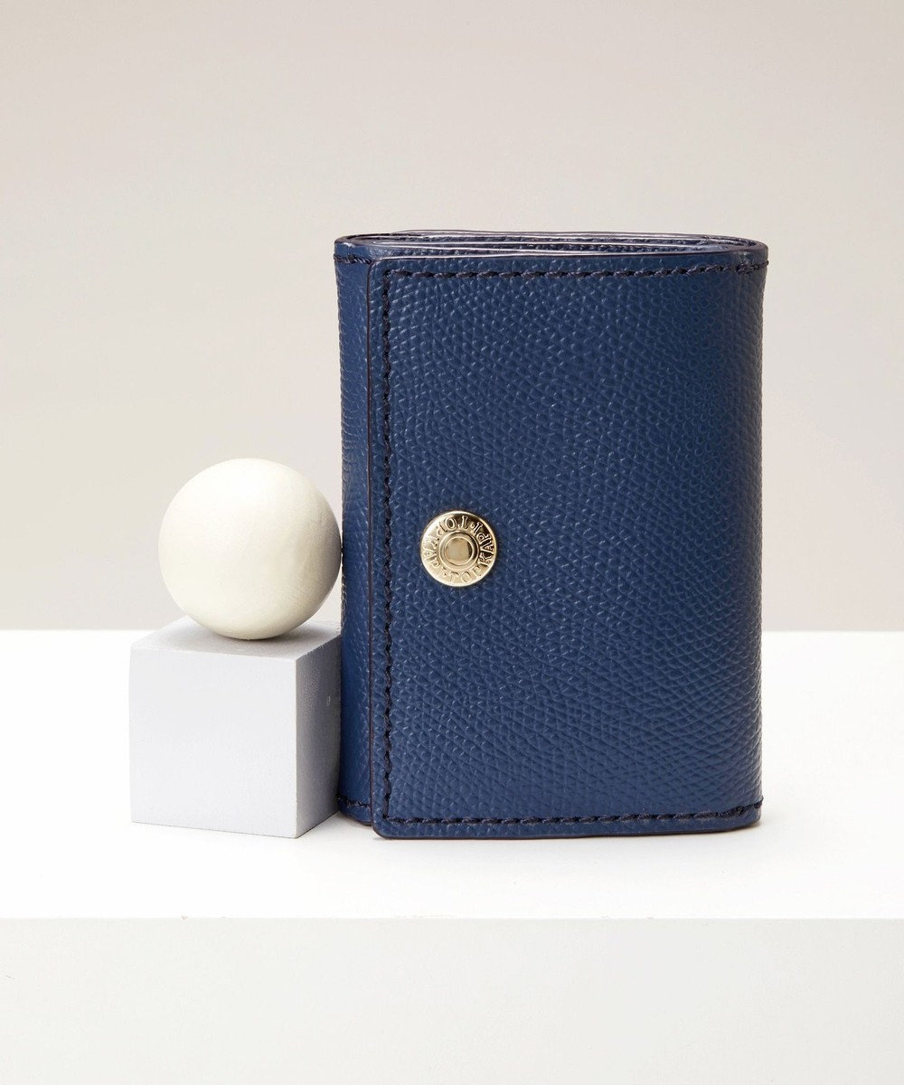 TOPKAPI [トプカピ] TOPKAPI 角シボ型押し・三つ折りミニ財布 COLORATO コロラート コン