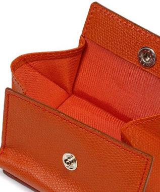 TOPKAPI [トプカピ] TOPKAPI 角シボ型押し・三つ折りミニ財布 COLORATO コロラート オレンジ