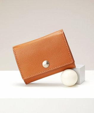 TOPKAPI [トプカピ] TOPKAPI 角シボ型押し・三つ折りミニ財布 COLORATO コロラート キャメル