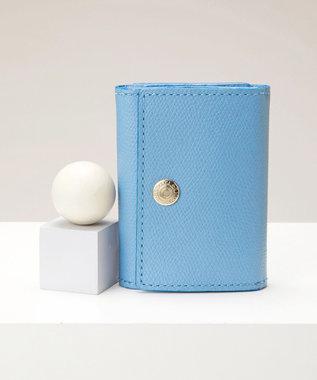 TOPKAPI [トプカピ] TOPKAPI 角シボ型押し・三つ折りミニ財布 COLORATO コロラート ブルーグレー