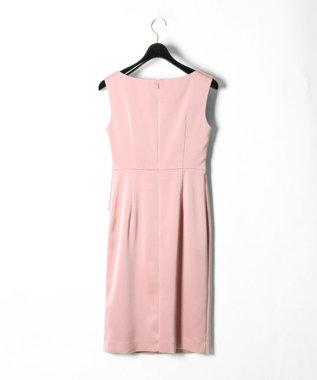 GRACE CONTINENTAL サテンクロスドレープワンピース ピンク