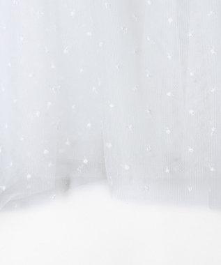 GRACE CONTINENTAL チュールレイヤードビスチェ ホワイト