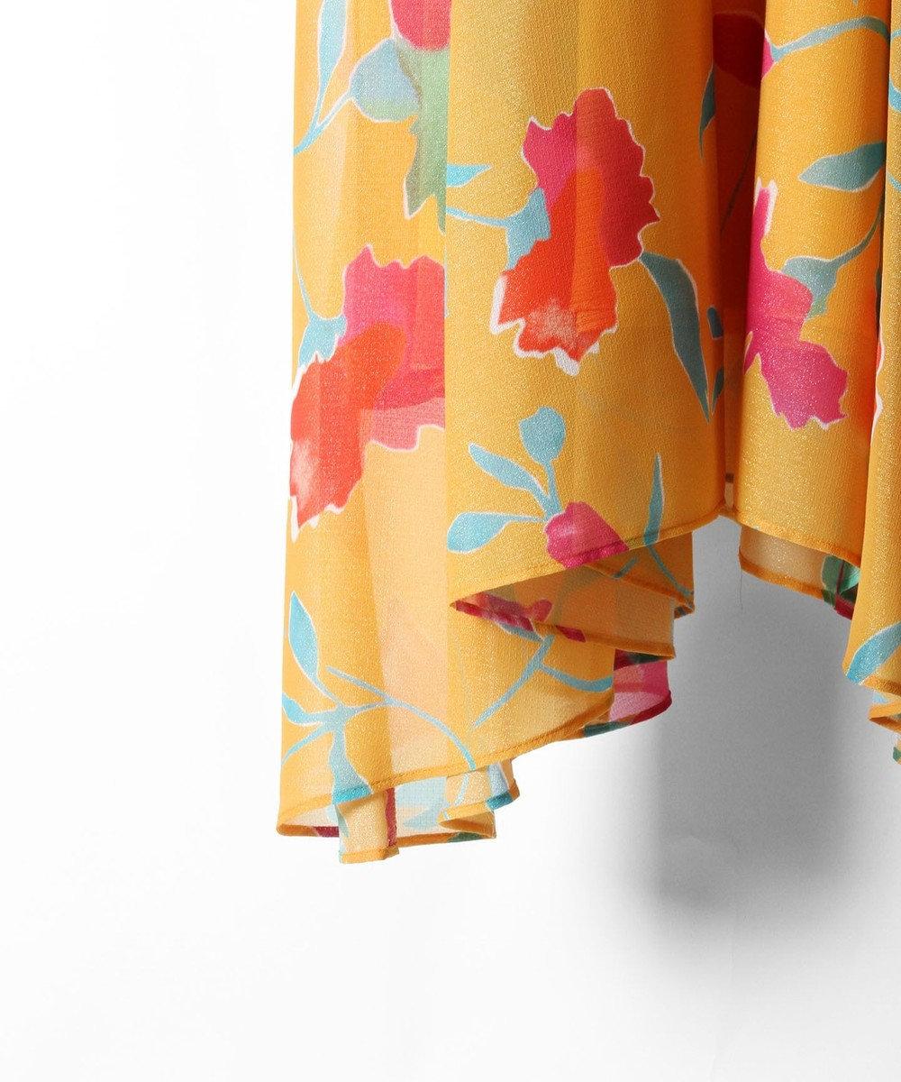 GRACE CONTINENTAL シフォンスカート オレンジ