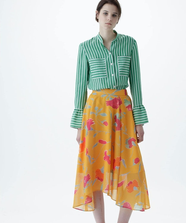 GRACE CONTINENTAL シフォンスカート
