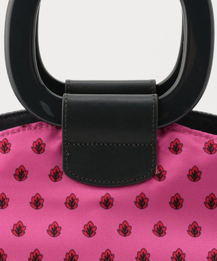 SAC スクエア持ち手スカーフプリントバッグ/サック Pure pow wow /サロン ピンク