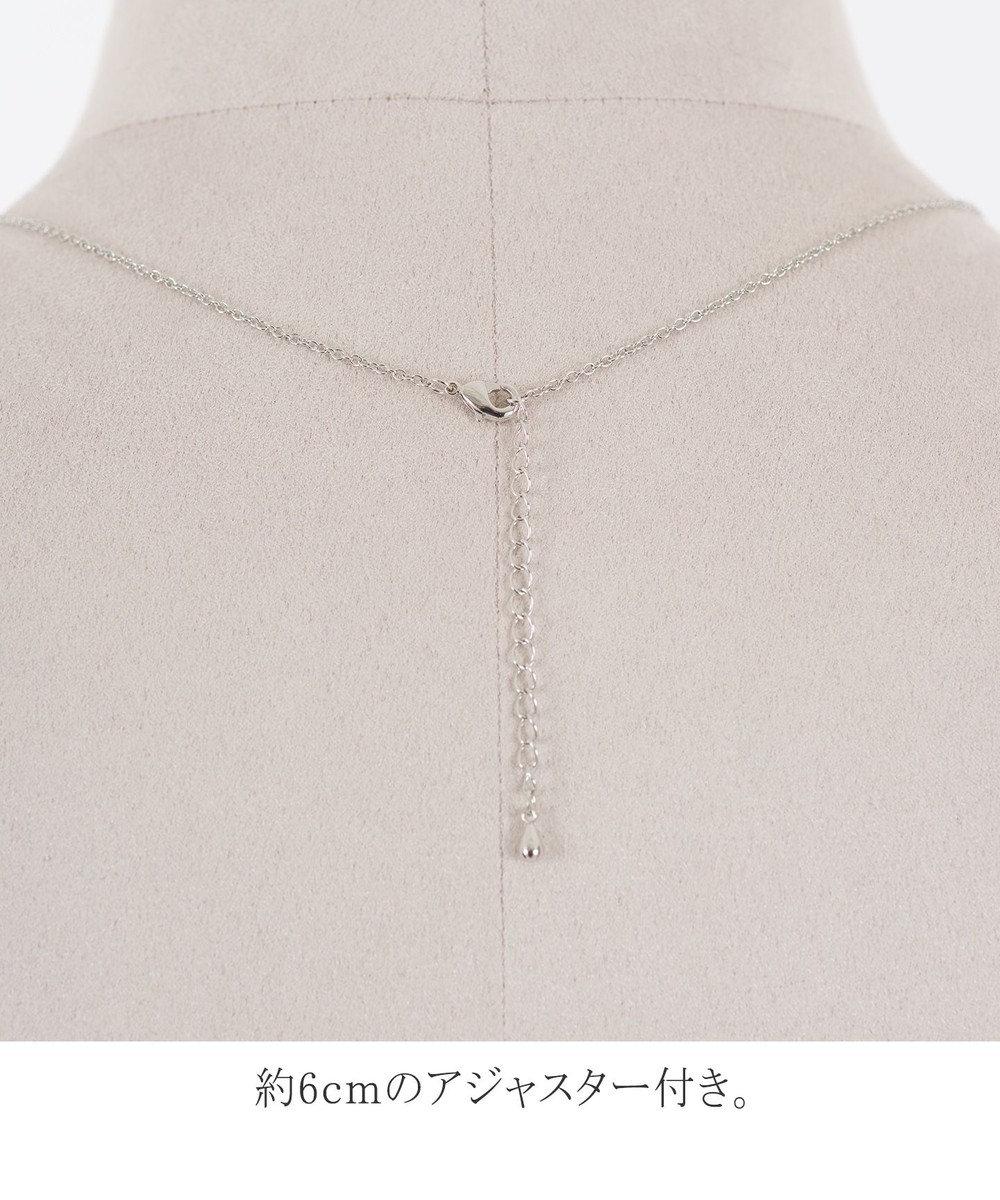 Tiaclasse 【日本製】程よいボリューム感の コットンパール ネックレス シルバー