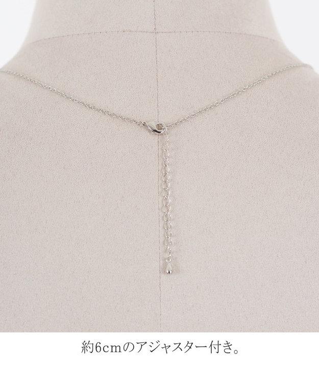 Tiaclasse 【日本製】程よいボリューム感の コットンパール ネックレス
