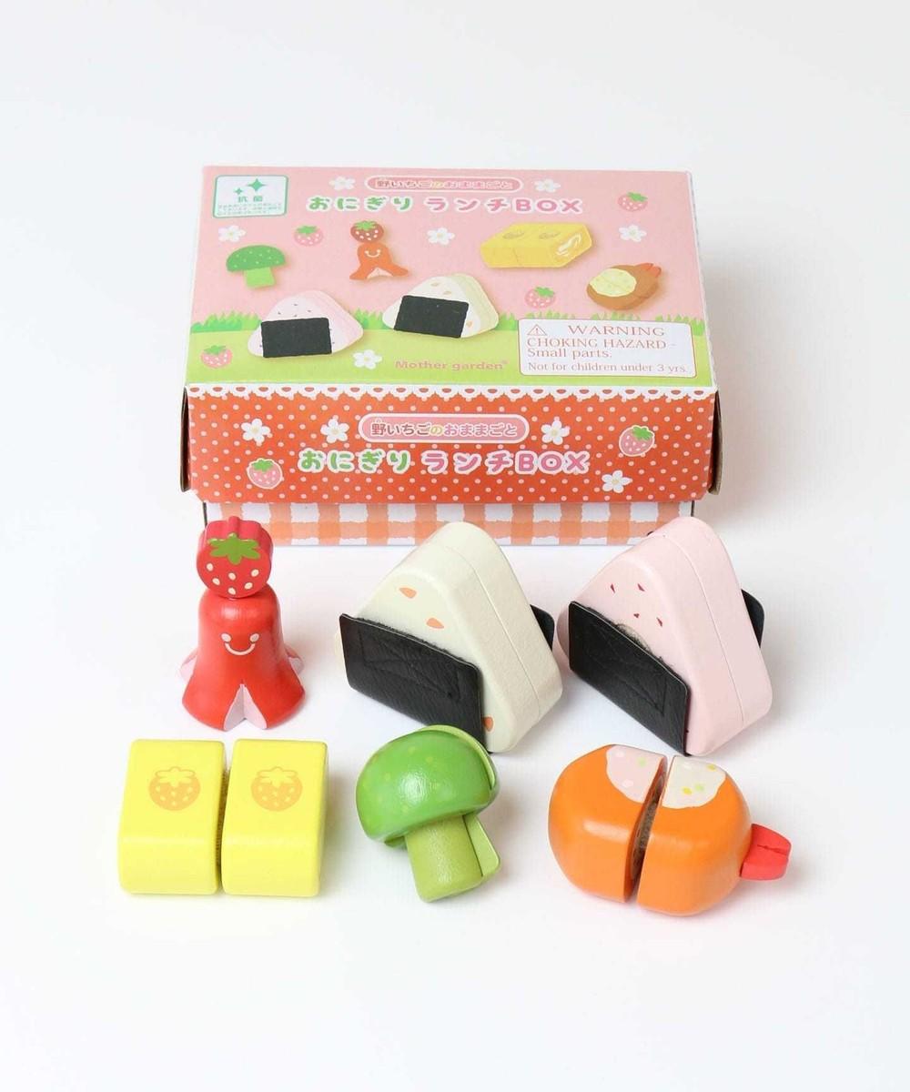 【オンワード】 Mother garden>おもちゃ マザーガーデン 木のおままごと ランチセット 263-95878 ピンク(淡) -