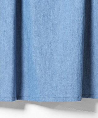 GRACE CONTINENTAL オフショルデニム刺繍ワンピース サックス