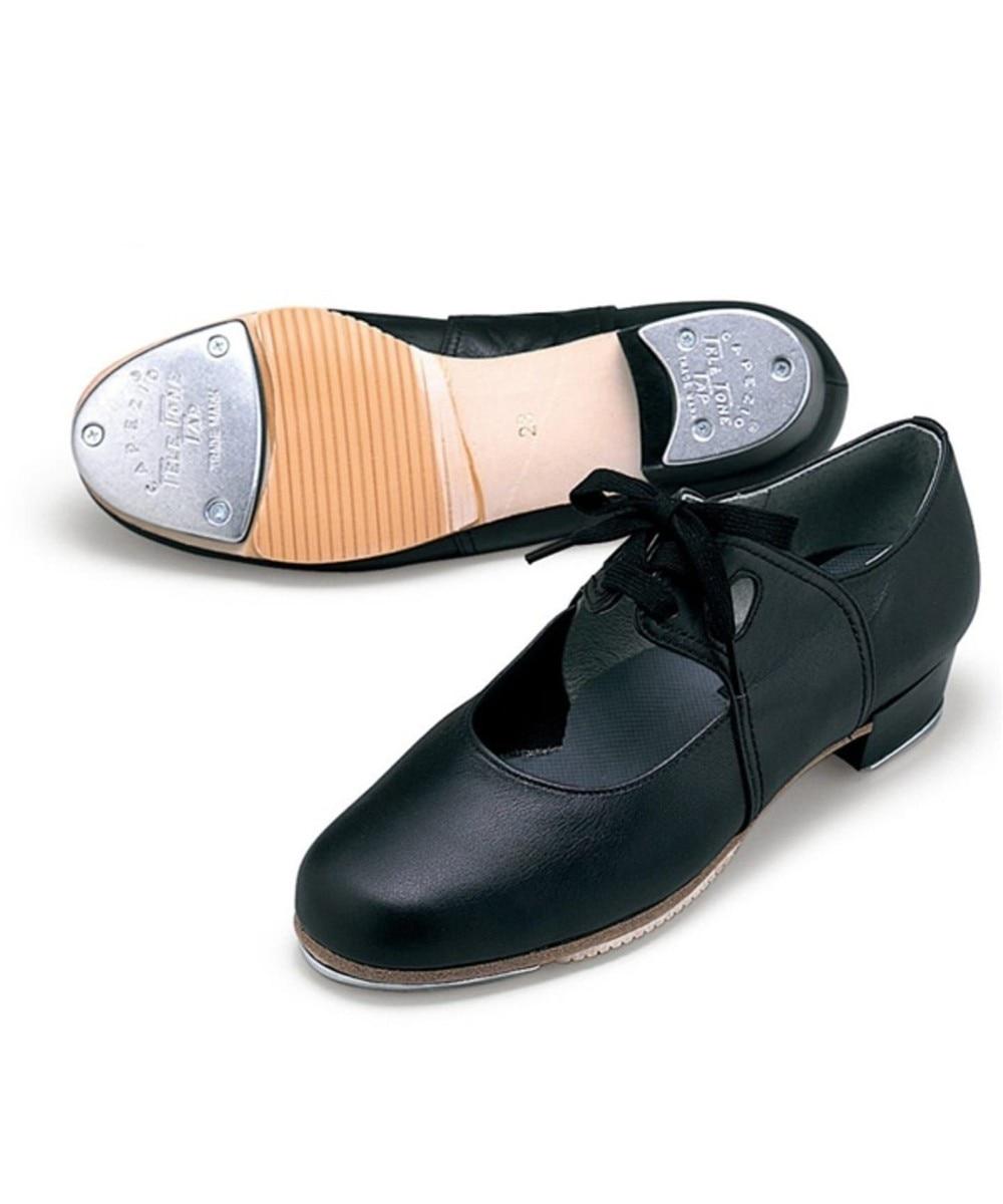 【オンワード】 Chacott>ダンス・フィットネス タップシューズ(ヒモ付き)#333 ブラック 21.5 レディース