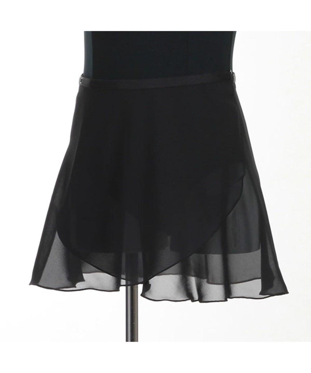 【オンワード】 Chacott>ダンス・フィットネス ジュニア・巻きスカート(ホックとめ) ブラック ジュニアフリー キッズ