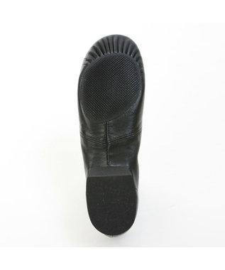 Chacott ローカットプリーツジャズシューズ(ラバーソール)25.5、26.0cm ブラック