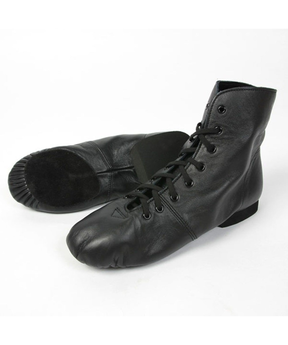 【オンワード】 Chacott>ダンス・フィットネス ミドルカットプリーツジャズシューズ(レザーソール)22.0〜25.0cm ブラック 25.0 レディース