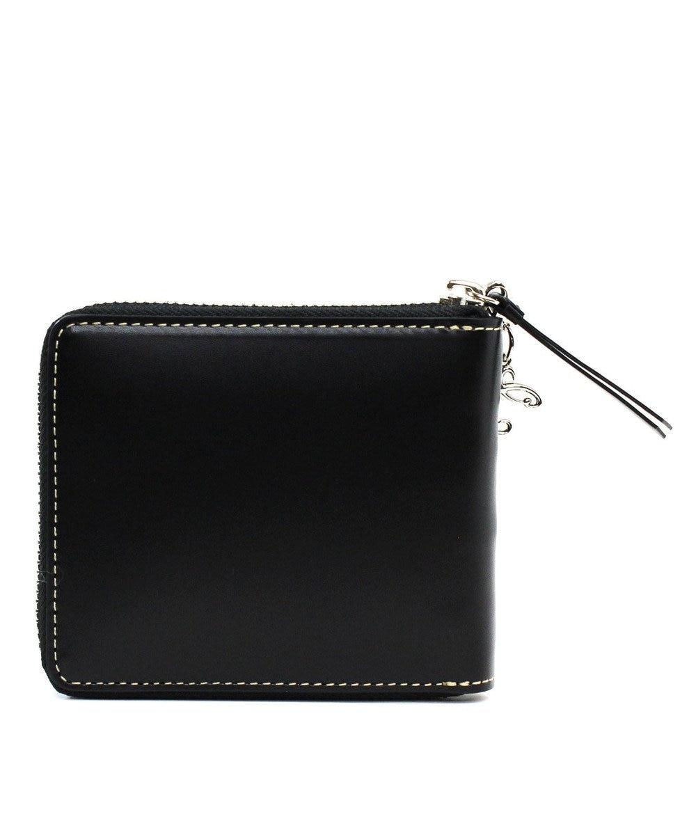 CYPRIS 【カード10枚収納】セーリオ 日本製 スムース牛革スクエアRF財布 ブラック[01]