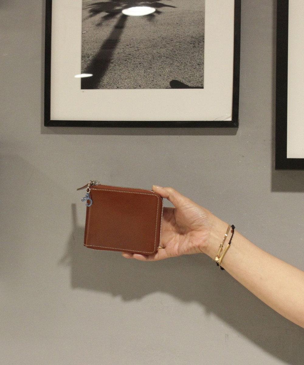 CYPRIS 【カード10枚収納】セーリオ 日本製 スムース牛革スクエアRF財布 ブラウン[03]